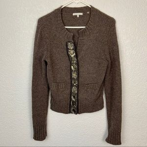 Vince Embellished Alpaca Cashmere Wool Cardigan